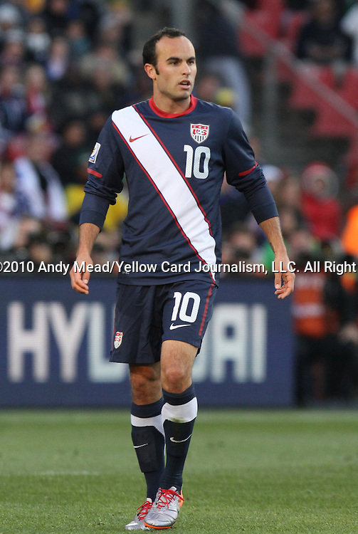 18 JUN 2010: Landon Donovan (USA). The Slovenia National Team played the United States National Team to a 2-2 at Ellis Park Stadium in Johannesburg, South Africa in a 2010 FIFA World Cup Group C match.