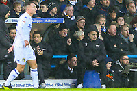 Leeds United manager Marcelo Bielsa watches on during the first half<br /> <br /> Photographer Alex Dodd/CameraSport<br /> <br /> The EFL Sky Bet Championship - Leeds United v Queens Park Rangers - Saturday 8th December 2018 - Elland Road - Leeds<br /> <br /> World Copyright &copy; 2018 CameraSport. All rights reserved. 43 Linden Ave. Countesthorpe. Leicester. England. LE8 5PG - Tel: +44 (0) 116 277 4147 - admin@camerasport.com - www.camerasport.com