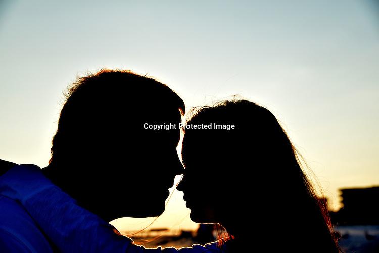 Couple siluette