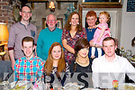 Gillian Conway, Tonevane, Tralee, celebrates her 18th Birthday with family and friends at the Stone House on Saturday. Pictured front l-r Tadhg Sheehan, Gillian Conway, Fiona Conway, Domnick Smith, Back l-r Eoin Quilter, Ger Conway, Michelle Conway, Brenda Conway and Sophia