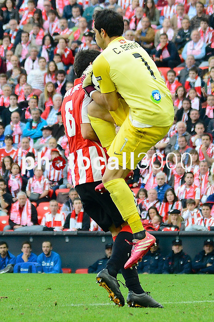 Football macht during La Liga BBVA.<br /> Athletic Club - Real Sociedad<br /> claudio bravo<br /> san jose