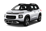2018 Citroen C3 Aircross Shine 5 Door SUV angular front stock photos of front three quarter view
