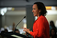Farah Palmer speaks during Little Talks at Solway Copthorne Hotel in Masterton, New Zealand on Thursday, 27 July 2017. Photo: Dave Lintott / lintottphoto.co.nz