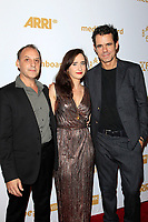 LOS ANGELES - OCT 6: Johnny Klimek, Cristina Russo, Tom Tykwer at the Babylon Berlin International Premiere held at The Theatre at Ace Hotel on October 6, 2017 in Los Angeles, CA