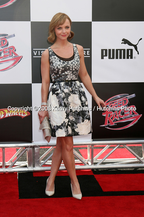 "Christina Ricci.""Speed Racer"" Premiere.Nokia Theater.Los Angeles, CA.April 26, 2008.©2008 Kathy Hutchins / Hutchins Photo"