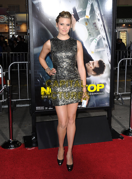 LOS ANGELES, CA - FEBRUARY 24 -Maggie Grace attends Universal Pictures' Non-Stop held at Regency Village Theatre in Westwood, California on February 24,2014                                                                               <br /> CAP/DVS<br /> &copy;DVS/Capital Pictures