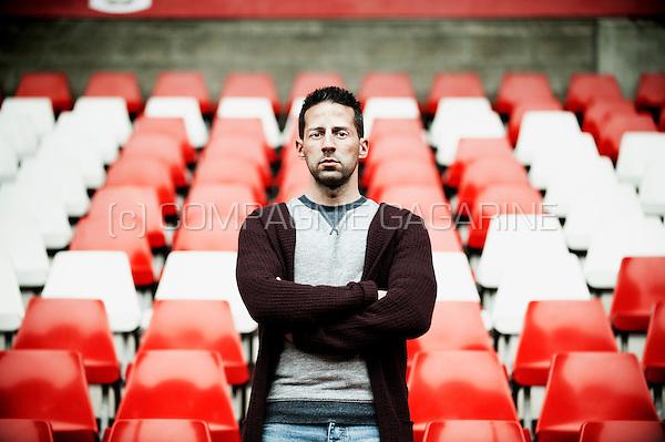 Belgian former footballer, currently football manager, Yannick Ferrera  (Belgium, 20/11/2015)