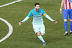 FC Barcelona's Leo Messi celebrates during Spanish Kings Cup semifinal 1st leg match. February 01,2017. (ALTERPHOTOS/Acero)