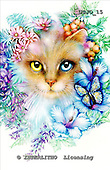 Marie, REALISTIC ANIMALS, REALISTISCHE TIERE, ANIMALES REALISTICOS, paintings+++++,USJO15,#A# ,Joan Marie cat