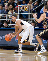 Allen Crabbe of California in action during the game against George Washington at Haas Pavilion in Berkeley, California on November 13th, 2011.  California defeated George Washington, 81-54.
