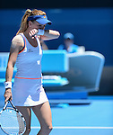 Agnieszka Radwanska (POL) defeats Victoria Azarenka (BLR) 6-1, 5-7, 6-0 At the Australian Open in Melbourne, Australia on January 22, 2014