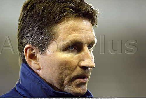 TROND SOLLIED (CLUB BRUGGE COACH), CLUB BRUGGE 0 v Barcelona 1, UEFA Champions League, Group Stage 1, Group H, Jan Breydel Stadium, Bruges 021029 Photo:Glyn Kirk/Action Plus...2002.Football soccer.brugges.portrait coaches manager managers