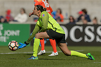Bridgeview, IL - Saturday May 06, 2017: Lydia Williams during a regular season National Women's Soccer League (NWSL) match between the Chicago Red Stars and the Houston Dash at Toyota Park. The Red Stars won 2-0.