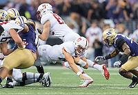 Seattle, Wa - September 30, 2016: The Stanford Cardinal vs the Washington Huskies at Husky Stadium. Final score Stanford 6, Washington Huskies 44.