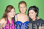 Pauline O'Connor, Anna Marie O'Leary and Martina Daly at the Kiskeam GAA social in the Dromhall Hotel, Killarney on Saturday night.