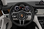 Car pictures of steering wheel view of a 2018 Porsche Panamera Turbo 5 Door Hatchback Steering Wheel
