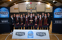 Girls' AA silver medalists Hamilton Girls' High School. 2019 Schick AA Secondary Schools Basketball National Championship post-tournament awards at the Central Energy Trust Arena in Palmerston North, New Zealand on Saturday, 5 October 2019. Photo: Dave Lintott / lintottphoto.co.nz