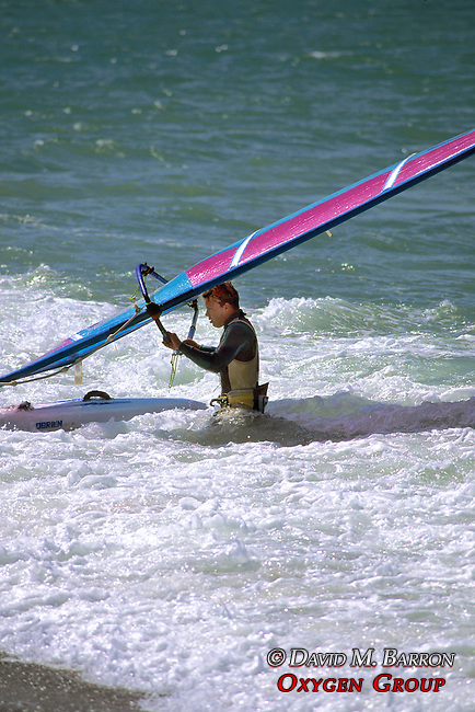 Man With Wind Surfer