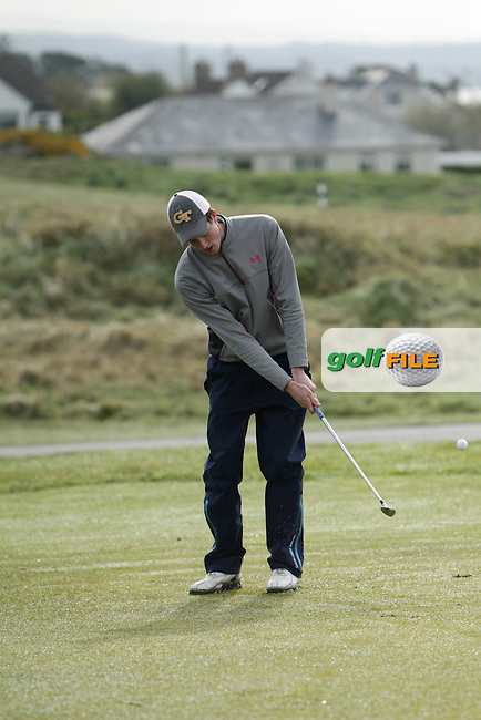 Brian O'Reilly (Athenry) during round 1 of The West of Ireland Amateur Open in Co. Sligo Golf Club on Friday 18th April 2014.<br /> Picture:  Thos Caffrey / www.golffile.ie