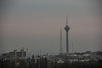 Iran Teheran landscape, the Tehran Milad tower