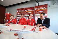 SCHAATSEN: HEERENVEEN: Thialf, 03-05-2013, Persconferentie Team Corendon, (Corendon Vliegvakanties) Jan Blokhuijsen, ©foto: Martin de Jong