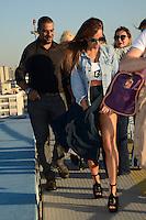 SÃO PAULO 26.07.2016 - SABRINA-SATO - A apresentodora Sabrina Sato é vista chegando helicóptero para desfilar no Mega Polo Week no Brás região leste da cidade de São Paulo na ultima terça-feira, 26(Foto: Eduardo Martins / Brazil Photo Press)