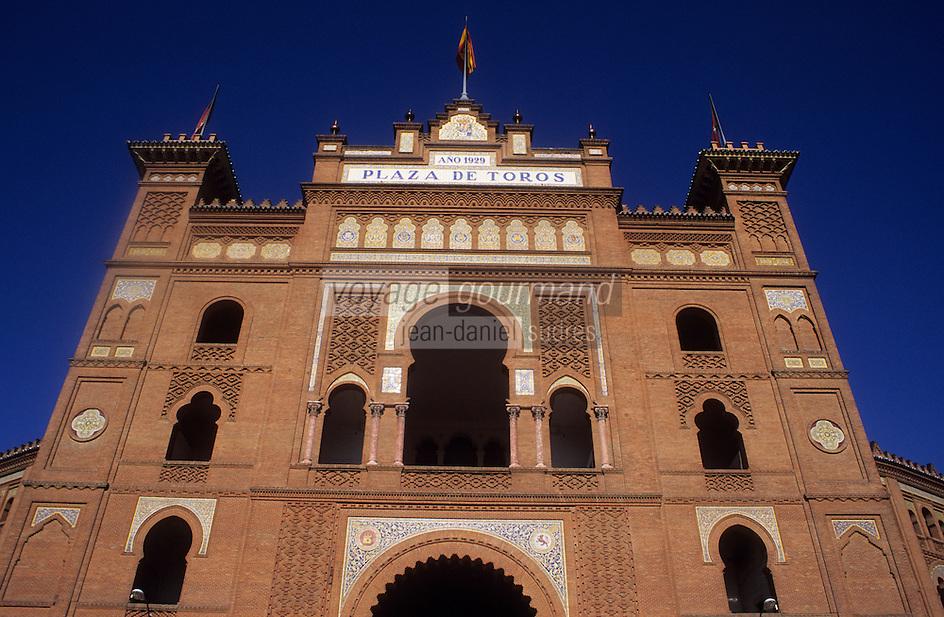Europe/Espagne/Castille/Madrid : Les arènes (construites en 1929 dans le style néo-mudéjar) Plaza de Toros de Las Ventas