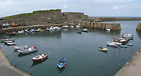 Pictured: General view of the Inner Harbour in Alderney<br />Re: It is believed that Premier League footballer Emiliano Sala was on a flight which disappeared between France and Cardiff.<br />The Argentine striker was one of two people on board the Piper Malibu, which disappeared off Alderney on Monday night.<br />Cardiff City FC, signed the 28-year-old from French club Nantes.<br />A search is under way.<br />A Cardiff Airport spokeswoman confirmed the aircraft was due to arrive from Nantes but said there were no further details.<br />HM Coastguard has sent two helicopters to help.