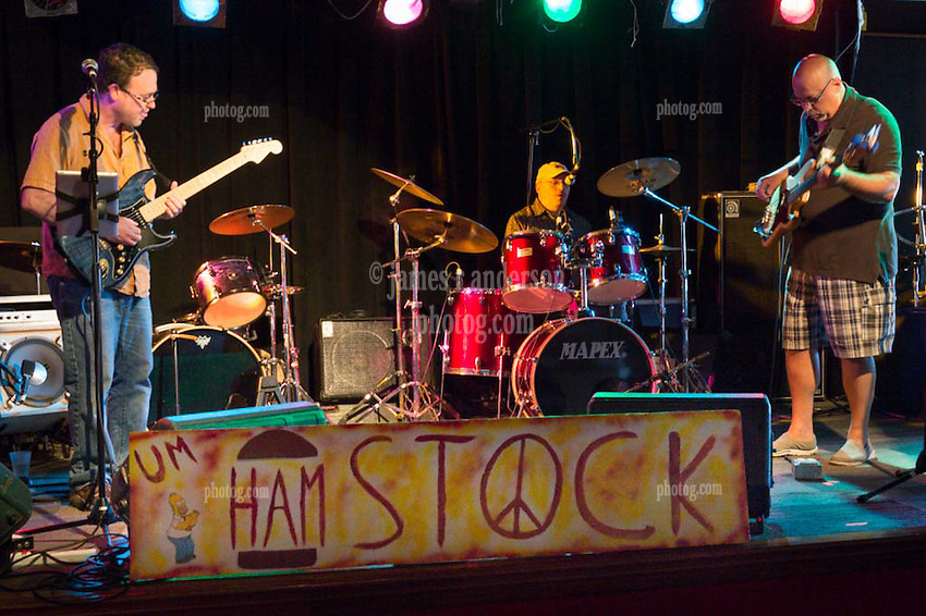 Blind Willie Trio. Vic Dias, Jim Eager & Joe Minieri, Eclectic Americana Artists. Hamstock 2014. Saturday at the Outer Space.