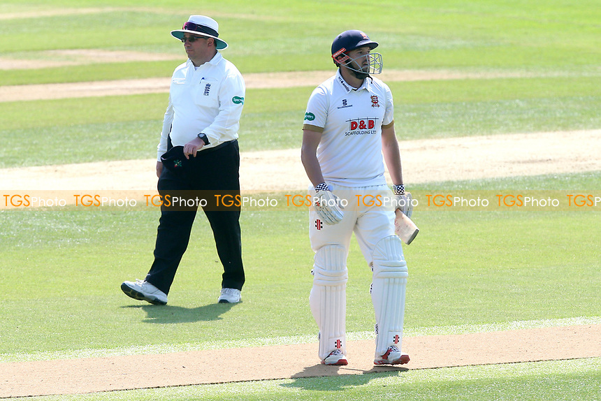 Nick Browne of Essex leaves the field having been dismissed for 17 during Essex CCC vs Lancashire CCC, Specsavers County Championship Division 1 Cricket at The Cloudfm County Ground on 21st April 2018