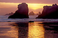 Seastacks at sunset<br />