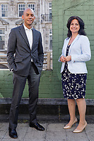 Pictured L-R: Change UK spokesman Chuka Umunna and party leader Heidi Allen. Monday 13 May 2019<br /> Re: Change UK, European Elections rally in Cardiff, Wales, UK.