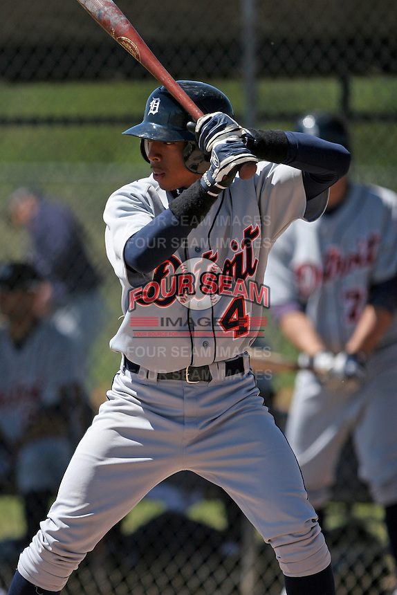 Detroit Tigers minor leaguer James Skelton during Spring Training at the Chain of Lakes Complex on March 17, 2007 in Winter Haven, Florida.  (Mike Janes/Four Seam Images)