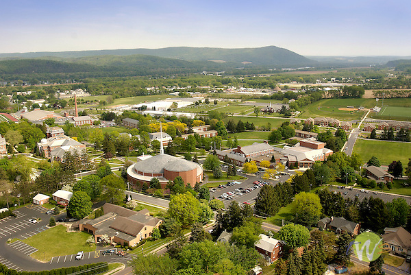 Susquehanna University, aerial view