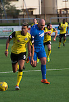 Edinburgh City attacker Ousman See in action at Links Park during their SPFL League 2 fixture against Montrose. It was Edinburgh City's first Scottish League visit to Montrose since the club were promoted from the Lowland League the previous season. City won the match 1-0 to record their first league win of the season, captain Dougie Gair scoring the winner from the penalty spot in the 68th minute in a match watched by 388 spectators.