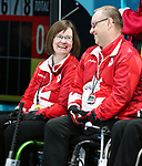 Pyeongchang, Korea, 15/3/2018-Dennis Thiessen, Marie Wright, compete in the  wheelchair curling during the 2018 Paralympic Games in PyeongChang.  Photo Scott Grant/Canadian Paralympic Committee.