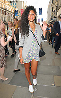 "Vick Hope (Victoria Nwosu-Hope) at the ""Waitress"" cast change media night, Adelphi Theatre, The Strand, London, England, UK, on Tuesday 02nd July 2019.<br /> CAP/CAN<br /> ©CAN/Capital Pictures"
