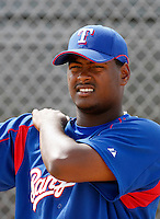 Fabio Castillo - Texas Rangers - 2009 spring training.Photo by:  Bill Mitchell/Four Seam Images
