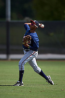 Atlanta Braves Isranel Wilson (12) during practice before an instructional league game against the Houston Astros on October 1, 2015 at the Osceola County Complex in Kissimmee, Florida.  (Mike Janes/Four Seam Images)