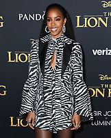"09 July 2019 - Hollywood, California - Kelly Rowland. Disney's ""The Lion King"" Los Angeles Premiere held at Dolby Theatre. Photo Credit: Birdie Thompson/AdMedia"