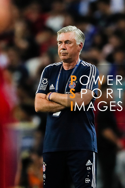 Bayern Munich Coach Carlo Ancelotti during the International Champions Cup match between Chelsea FC and FC Bayern Munich at National Stadium on July 25, 2017 in Singapore. Photo by Marcio Rodrigo Machado / Power Sport Images