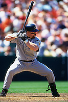 SAN FRANCISCO, CA - Jeff Bagwell of the Houston Astros in action during a game against the San Francisco Giants at Candlestick Park in San Francisco, California in 1999. Photo by Brad Mangin