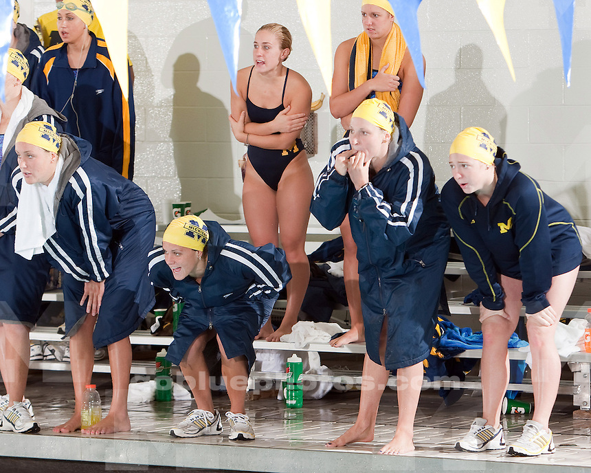 1/16/2010 Michigan vs. Northwestern women's swimming and diving.