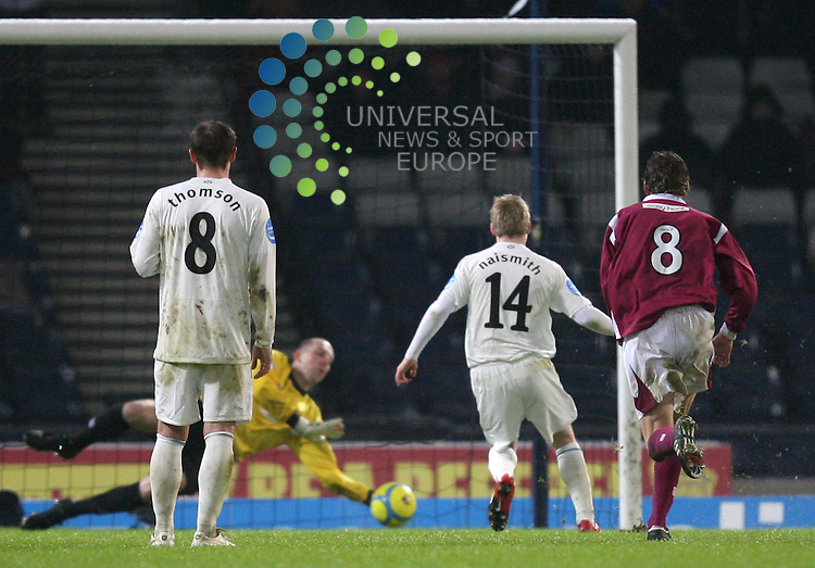 Steven Naismith takes the penalty which was saved by Saints keeper Graeme Smith during The Co-Operative Cup Semi final between Rangers and St Johnston at hampdfen park 03/02/10..Picture by Ricky Rae/universal News & Sport (Scotland).