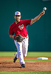 10 March 2014: Washington Nationals starting pitcher Gio Gonzalez on the mound during a Spring Training game against the Houston Astros at Space Coast Stadium in Viera, Florida. The Astros defeated the Nationals 7-4 in Grapefruit League play. Mandatory Credit: Ed Wolfstein Photo *** RAW (NEF) Image File Available ***