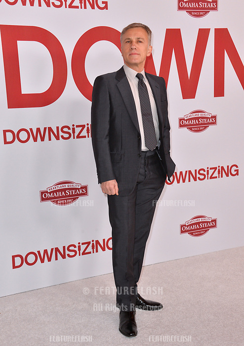 Christoph Waltz at the special screening of &quot;Downsizing&quot; at the Regency Village Theatre, Westwood, USA 18 Dec. 2017<br /> Picture: Paul Smith/Featureflash/SilverHub 0208 004 5359 sales@silverhubmedia.com