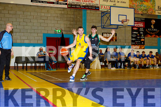 Darragh Jones Killorglin in action against the Panthers in Killorglin on Saturday night