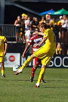 28 AUGUST 2010:  Brian Carroll of the Columbus Crew (16) during MLS soccer game between FC Dallas vs Columbus Crew at Crew Stadium in Columbus, Ohio on August 28, 2010.