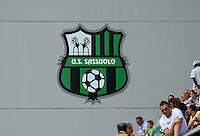 20160526 - REGGIO EMILIA , ITALY : illustration picture showing boarding of US Sassuolo logo during a womensoccer match between the teams of  VFL Wolfsburg Frauen and Olympique Lyon , during the final of the Uefa Women Champions League 2015 - 2016 in Stadio citta del tricolore Stadium , Reggio Nell Emilia - Italy , Thursday 26 May 2016 . PHOTO SPORTPIX.BE / DAVID CATRY