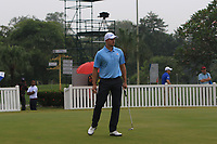 Henrik Stenson (Europe) on the putting green during the Saturday Foursomes of the Eurasia Cup at Glenmarie Golf and Country Club on the 13th January 2018.<br /> Picture:  Thos Caffrey / www.golffile.ie